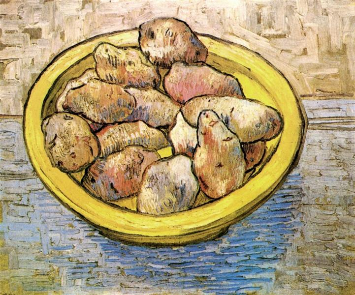 Still Life Potatoes in a Yellow Dish - van Gogh Vincent