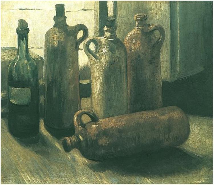 still life with five bottles 1884 vincent van gogh. Black Bedroom Furniture Sets. Home Design Ideas