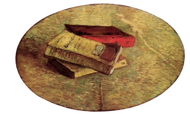 Still Life with Three Books, 1887 - Vincent van Gogh - WikiArt.org