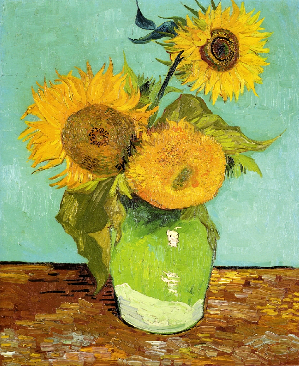 Sunflowers by Vincent Van Gogh, 1888