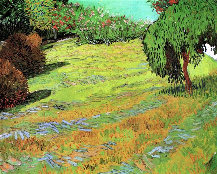 Sunny Lawn in a Public Park, 1888 - Vincent van Gogh