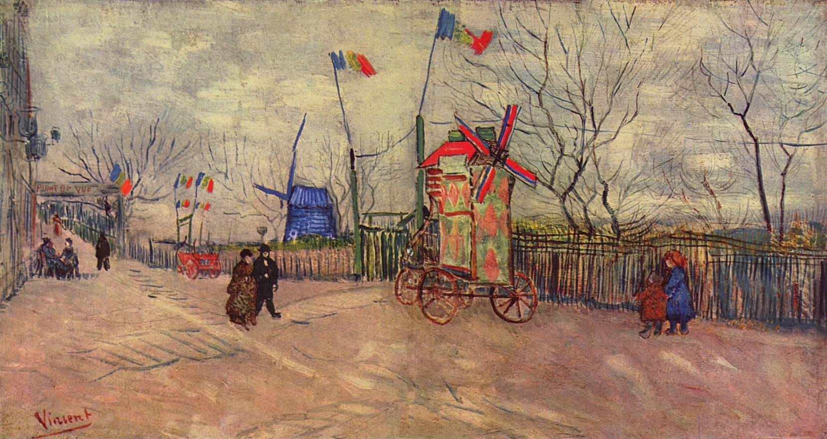 the allotments at montmartre 1887 vincent van gogh. Black Bedroom Furniture Sets. Home Design Ideas