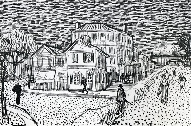 The Artist's House in Arles - van Gogh Vincent