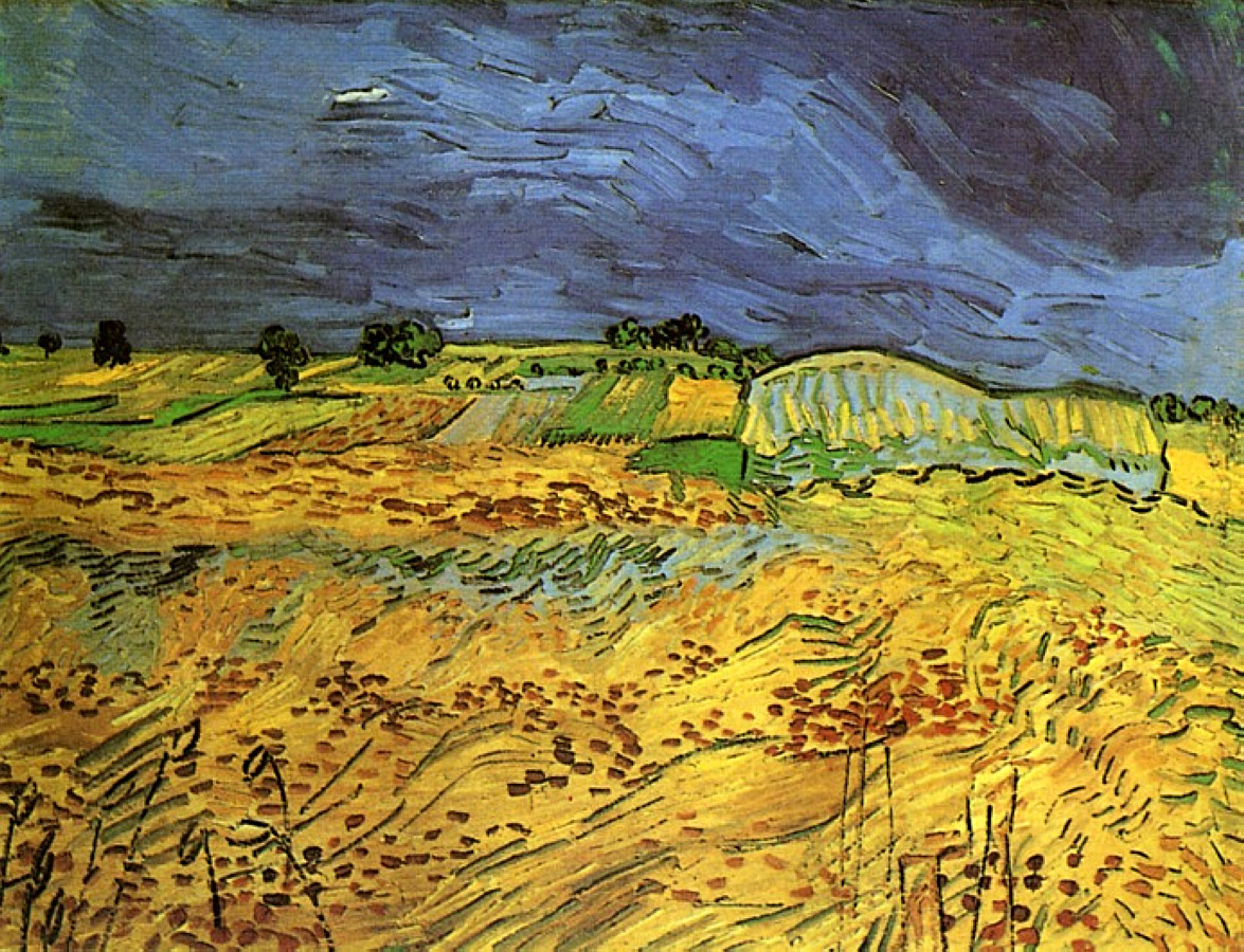 The fields 1890 vincent van gogh for Van gogh paintings locations