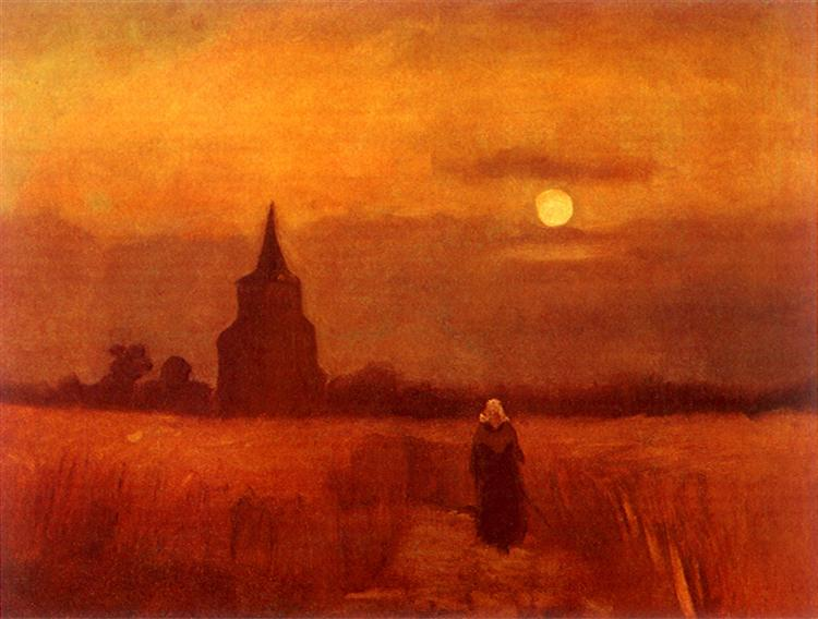 The Old Tower in the Fields, 1884 - Vincent van Gogh - WikiArt.org