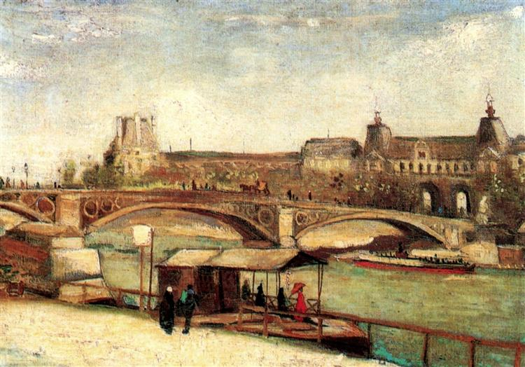 The Pont du Carrousel and the Louvre, 1886 - Vincent van Gogh