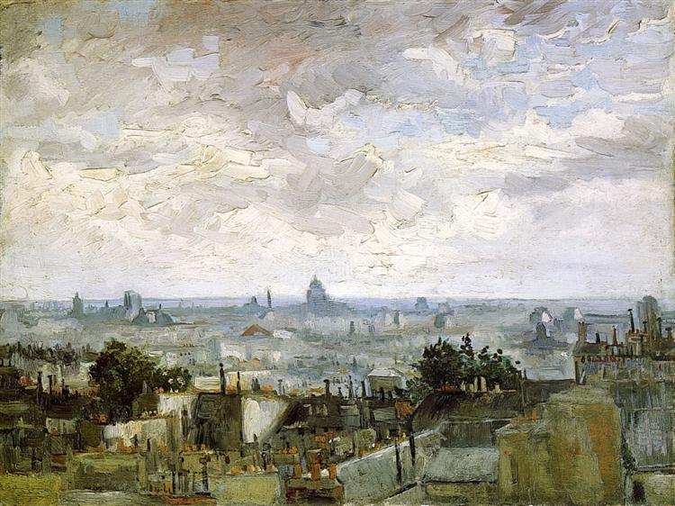 The Roofs of Paris, 1886 - Vincent van Gogh
