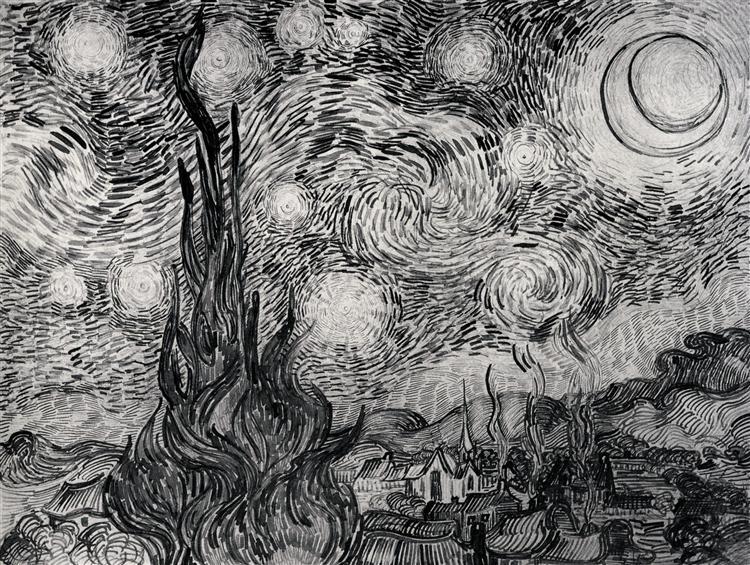 The Starry Night, 1889 - Vincent van Gogh