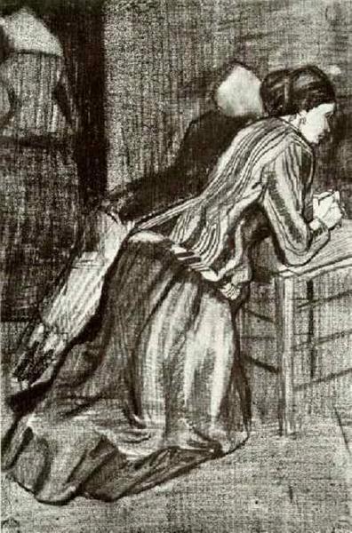 Two Women, Kneeling, 1883 - Vincent van Gogh