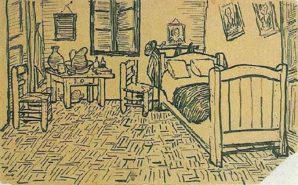 Vincent\'s Bedroom in Arles, 1888 - Vincent van Gogh - WikiArt.org