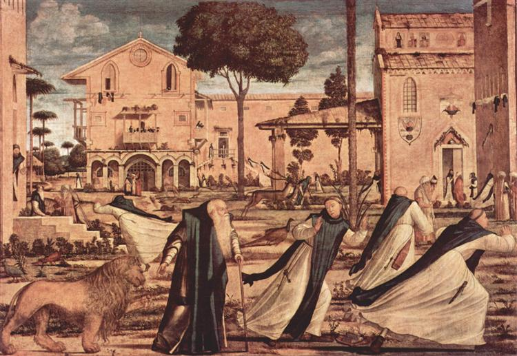St. Jerome and Lion in the Monastery, 1509 - Vittore Carpaccio