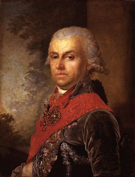 Portrait of D. P. Troschinsky, 1799 - Vladimir Borovikovsky