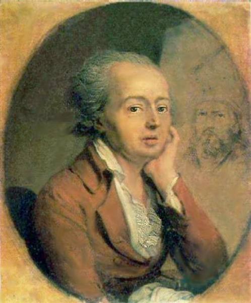 Portrait of Dmitry Levitzky - Vladimir Borovikovsky