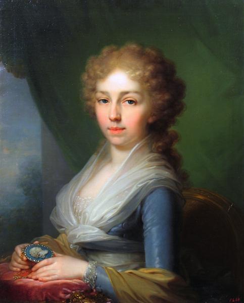 Portrait of Empress Elisabeth Alexeievna - Vladimir Borovikovsky