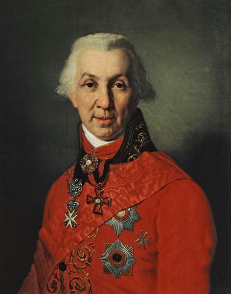 Portrait of Gavrila Romanovich Derzhavin, 1811 - Vladimir Borovikovsky