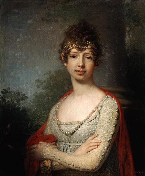 Portrait of Grand Duchess Maria Pavlovna, 1800 - Vladimir Borovikovsky