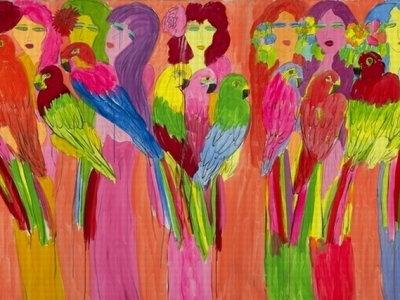 Ladies with Parrots - Уоллес Тинг