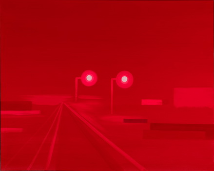 Untitled (Brilliant Red Digital Breakup Lights), from Green Zone, 2004 - Wanda Koop