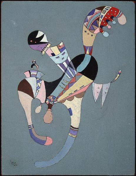A floating figure, 1942 - Wassily Kandinsky
