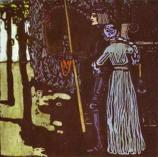 Farewell, 1903 - Wassily Kandinsky