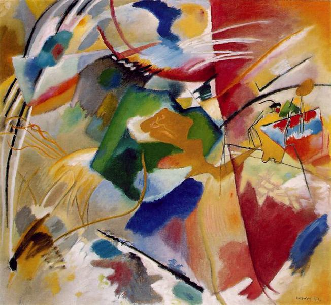 Painting with green center, 1913 - Wassily Kandinsky