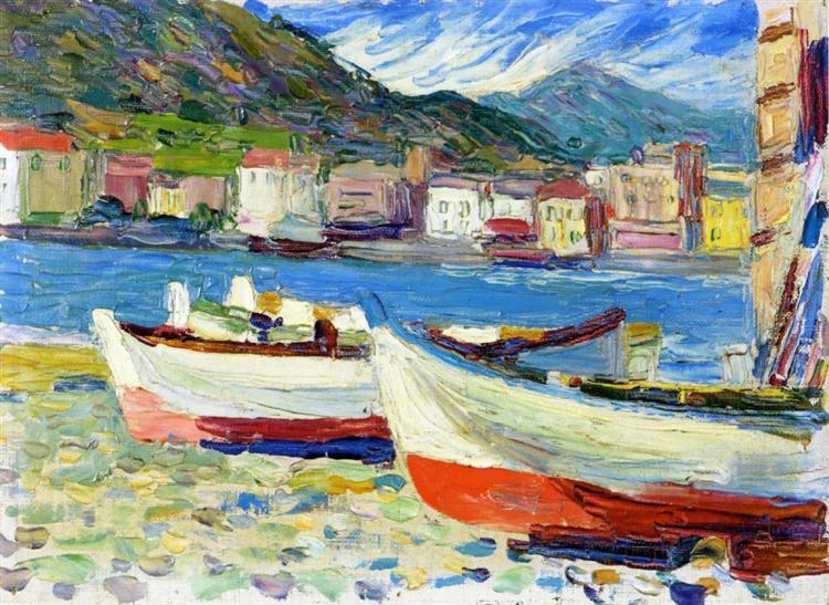 Rapallo boats, 1905 - Wassily Kandinsky
