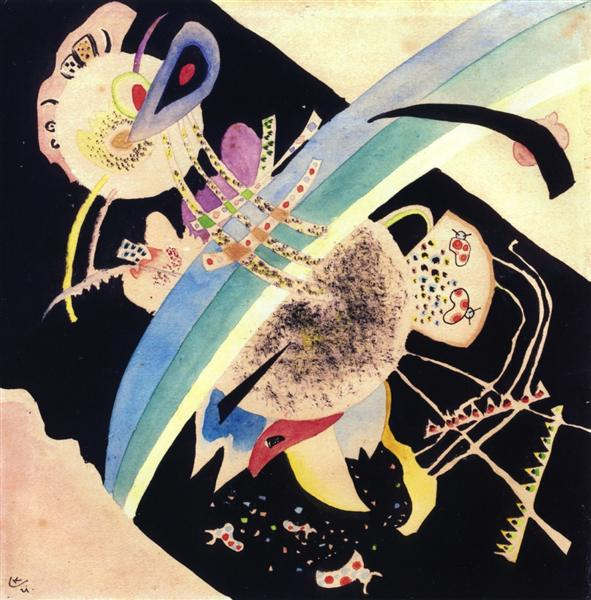 "Study for ""Circles on Black"", 1921 - Wassily Kandinsky"