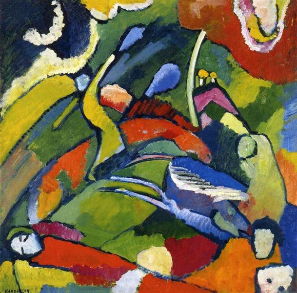 Two riders and reclining figure, c.1910 - Wassily Kandinsky