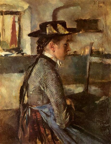 In Erwartung, 1898 - Wilhelm Leibl