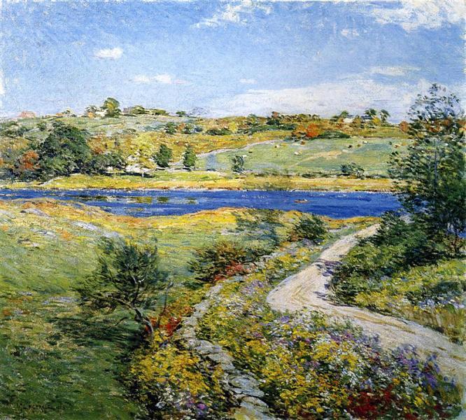 Autumn Roadside, 1918 - Willard Metcalf