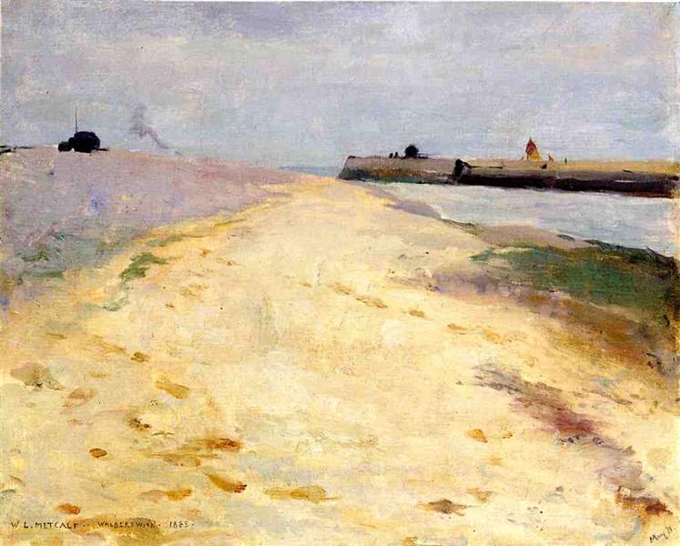 By the Shore, Walberswick, 1885 - Willard Metcalf