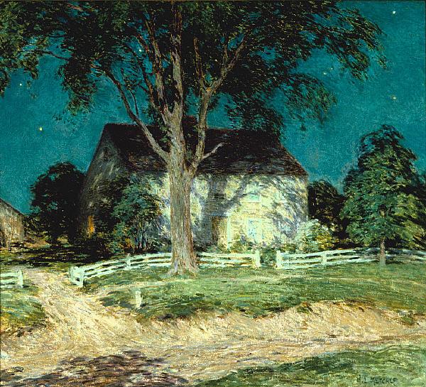 Old Homestead Connecticut, c.1914 - Willard Metcalf