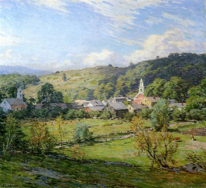 September Morning, Plainfield, New Hampshire, 1911 - Willard Metcalf