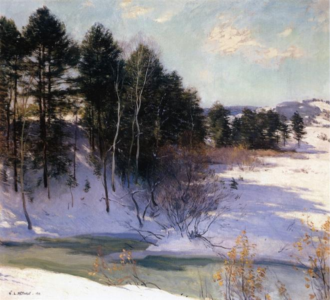 Thawing Brook (Winter Shadows), 1911 - Віллард Меткалф