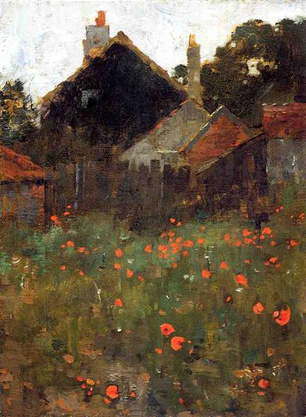 The Poppy Field - Willard Leroy Metcalf