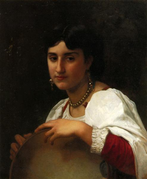 TheItaliantambourine - William-Adolphe Bouguereau