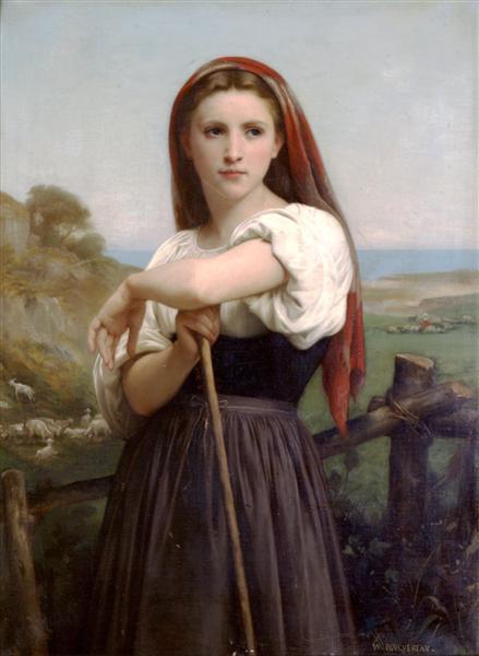 Young Shepherdess, 1868 - William-Adolphe Bouguereau