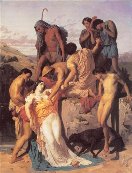 Zenobia found by shepherds on the banks of the Araxes, 1850 - William-Adolphe Bouguereau