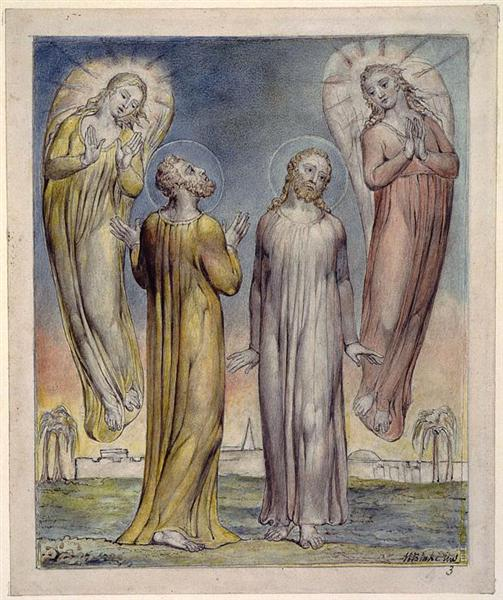 Andrew, Simon Peter Searching for Christ, 1816 - 1819 - William Blake