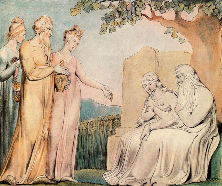 Job accepting Charity, 1825 - William Blake