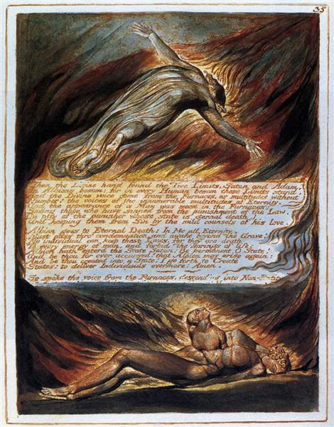The Descent Of Christ, 1804 - 1820 - William Blake