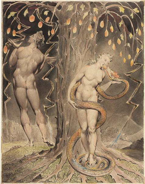 The Temptation and Fall of Eve, 1808 - William Blake