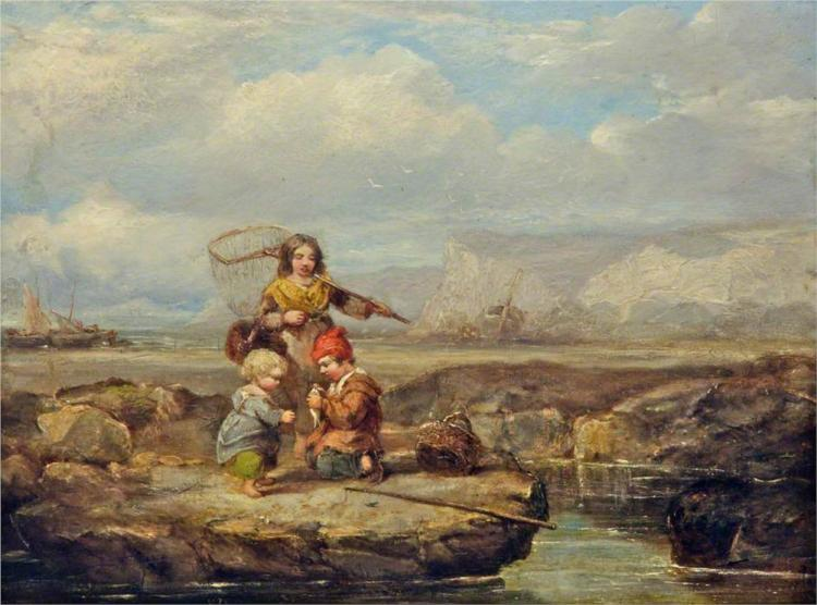 Coast Scene with Figures - Уильям Коллинз