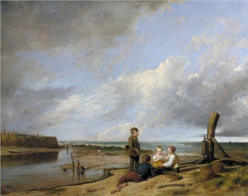 Shrimp Boys at Cromer, Norfolk  - William Collins