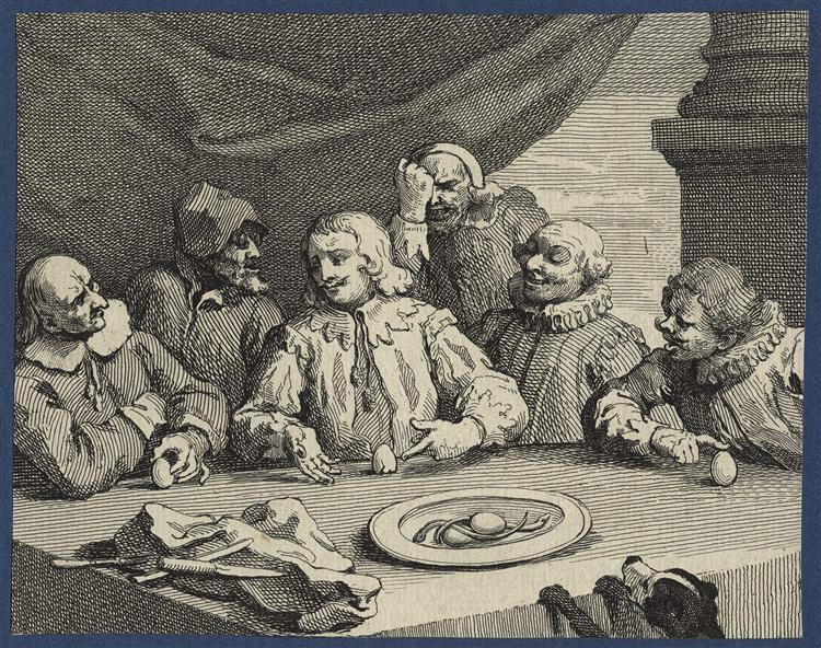 Columbus Breaking the Egg (Christopher Columbus), 1752 - William Hogarth