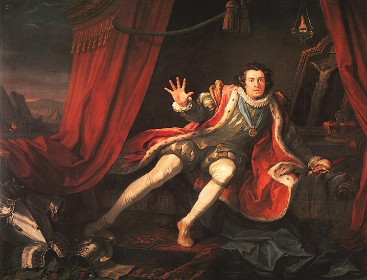 David Garrick as Richard III, 1745 - William Hogarth