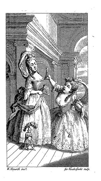 Frontispiece of  Fielding's  'The tragedy of tragedies' - Уильям Хогарт