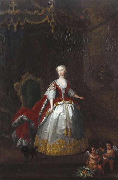 Portrait of Augusta of Saxe Gotha, c.1736 - c.1738 - William Hogarth
