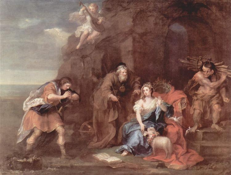 "Prospero and Miranda from ""The Tempest"" of William Shakespeare, c.1728 - William Hogarth"