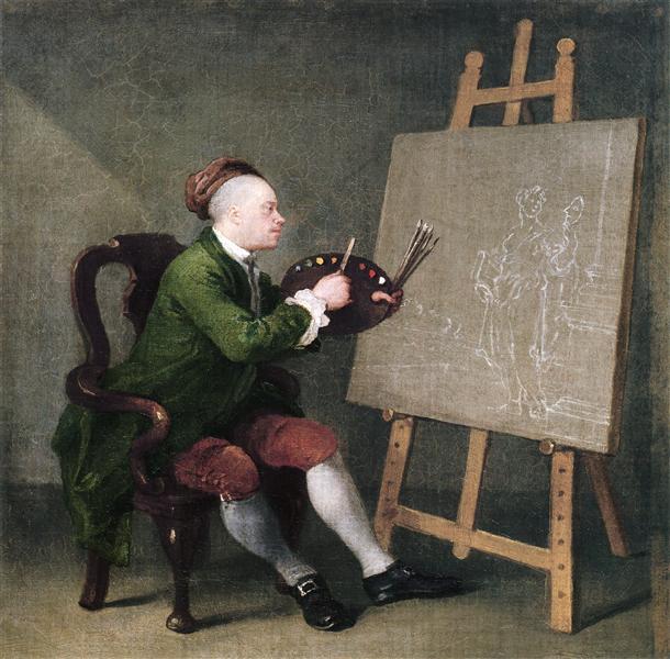 Self portrait, c.1757 - William Hogarth